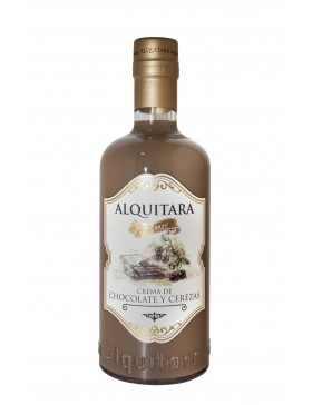 Licor de chocolate y Cerezas Alquitara 70cl.